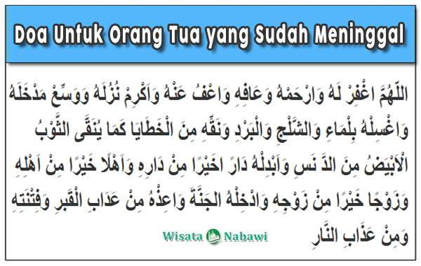 Doa Untuk Orang Tua Bacaan Arab Latin Dan Artinya Lengkap